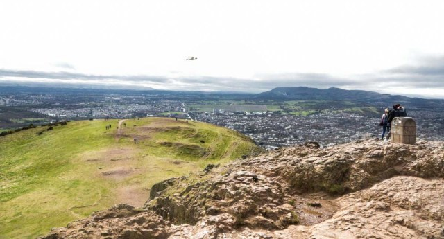 View from the Summit of Arthur's Seat - Scotland Wales London Itinerary BritRail Pass