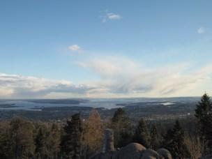 Looking down at Oslo