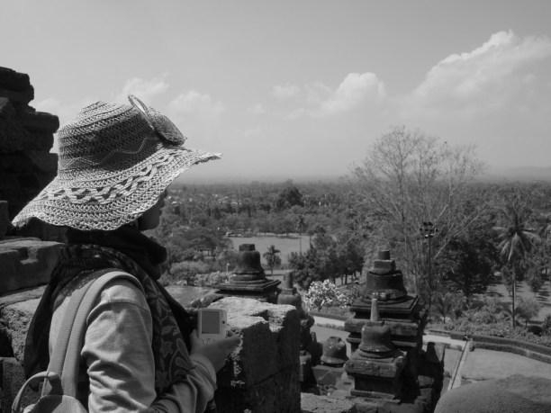 Mia in Borobudur