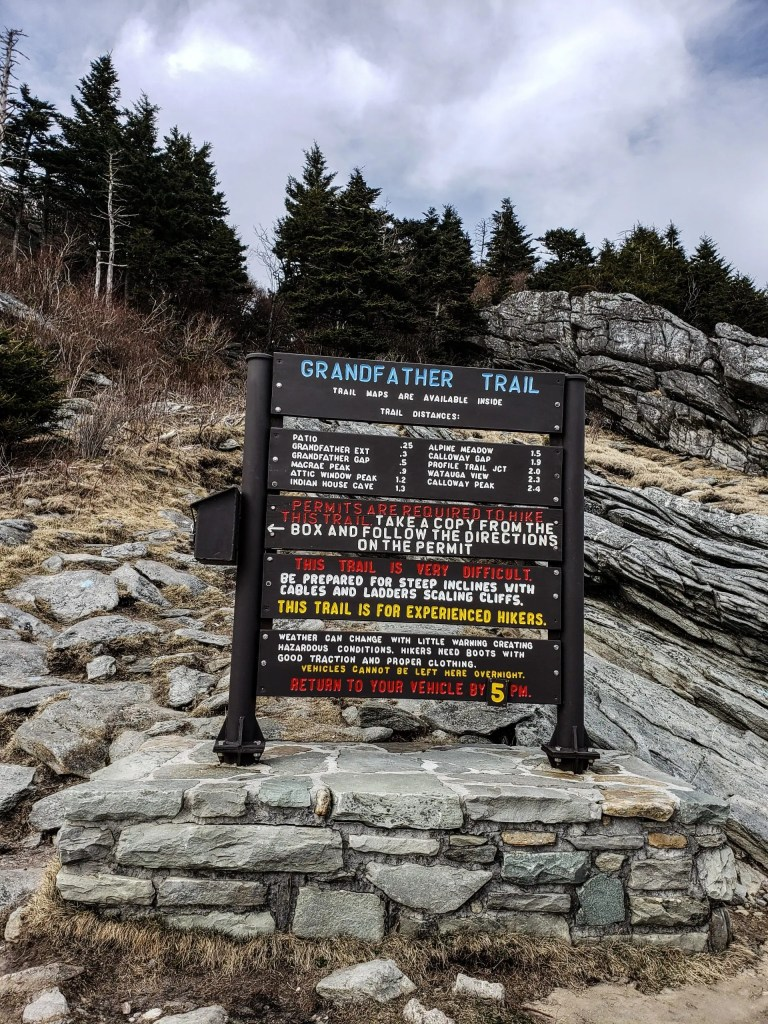 Grandfather Mountain State Park Sign