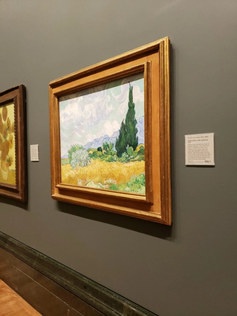 A Wheatfield, with Cypresses, Vincent Van Gogh, National Gallery