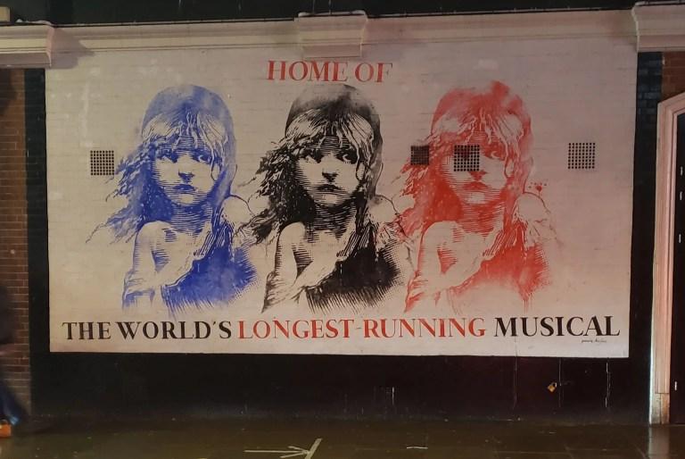 "Sondheim Theater, Les Miserables, ""Home of the World's Longest Running Musical"""