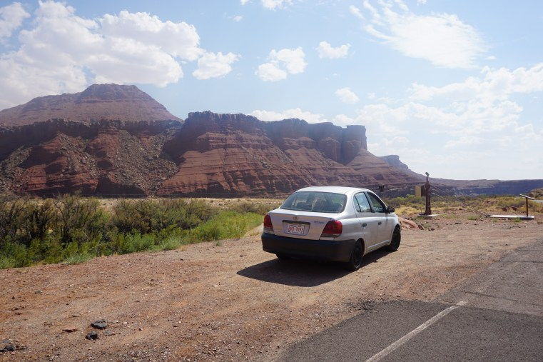 Parked alongside the Colorado River in Glen Canyon by Lees Ferry Landing
