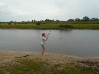 The only one who managed to catch anything!