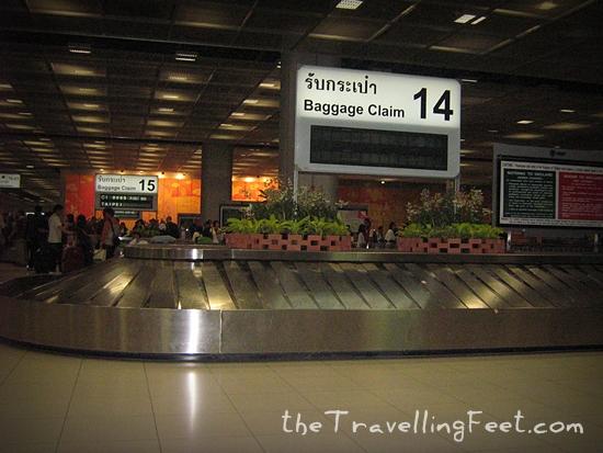 Arriving at the Suvarnabhumi Airport in Bangkok