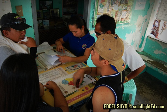 seeking the help at the Tourism station in Guimaras
