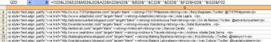 PTB HTML Code formula