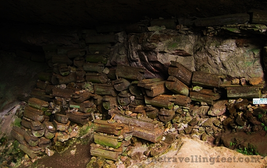 Coffins in Sumaguing Cave