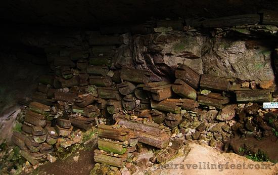 Coffins in Sumaguing Cave