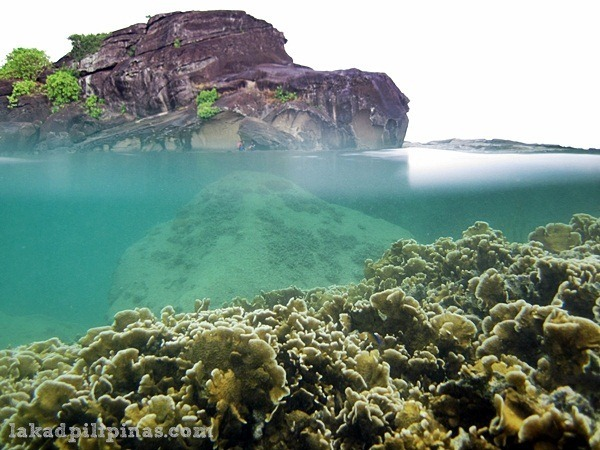 natural pool in Biri Island