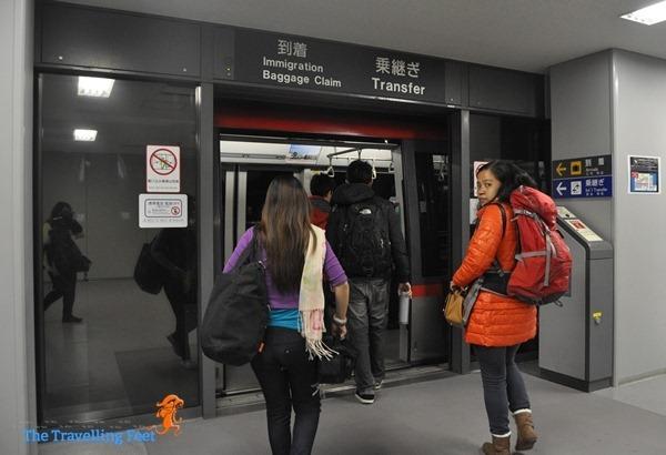train transfer inside the Kansai Airport Terminal