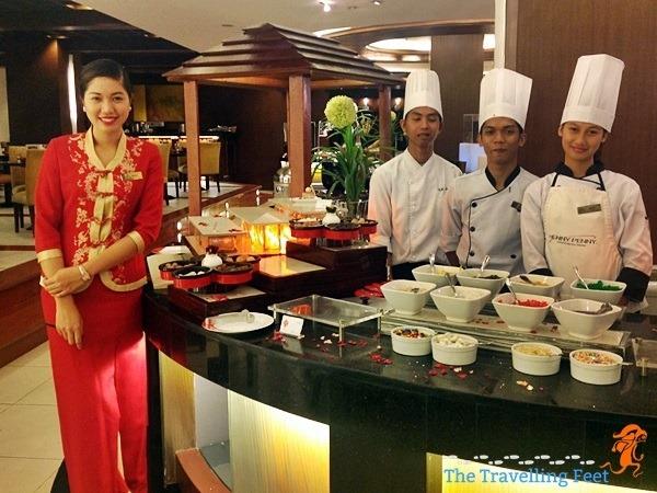 the staff of Seasons at Manila Pavilion Hotel