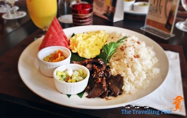 Beef Tapa meal at Luxent Hotel