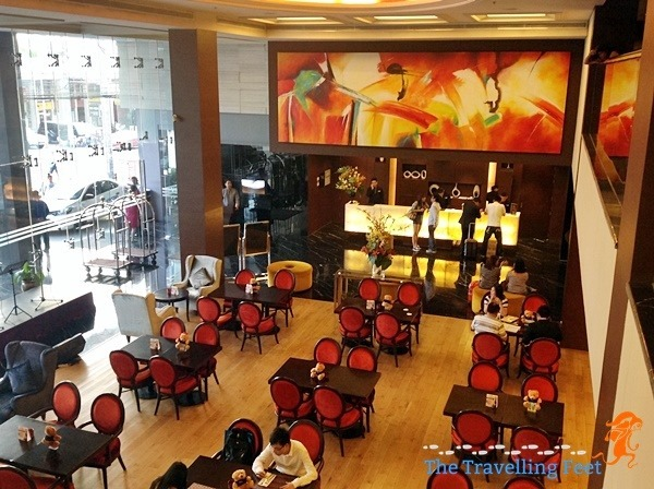 Luxent Hotel lobby along Quezon City