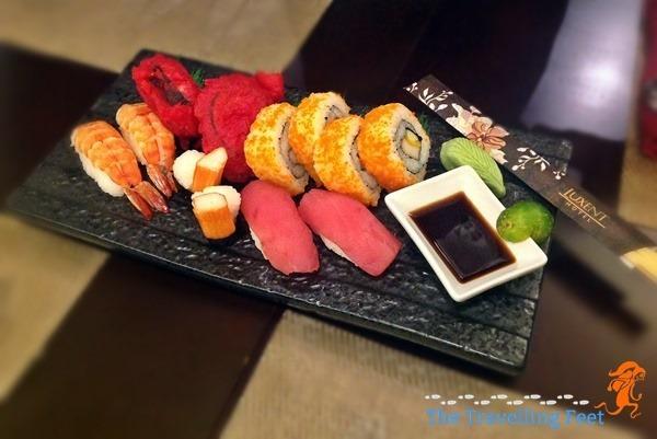 sushi and maki platter