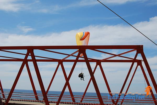 landing the paraglide