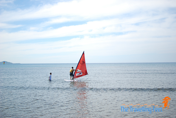 wind surfing at ilocos sur