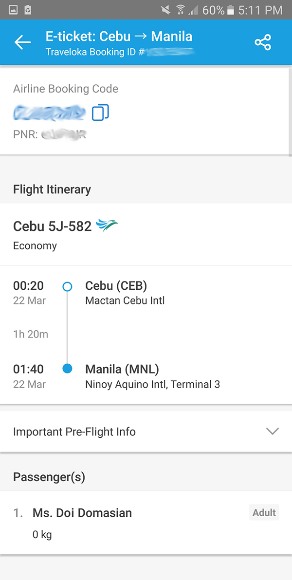traveloka flight confirmation