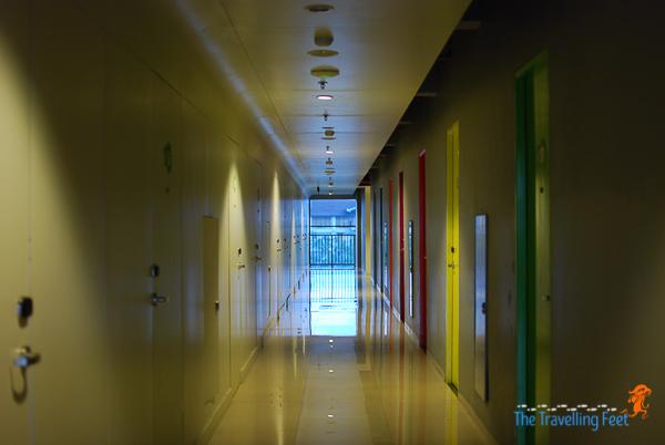 hallway at pop hotel kuta