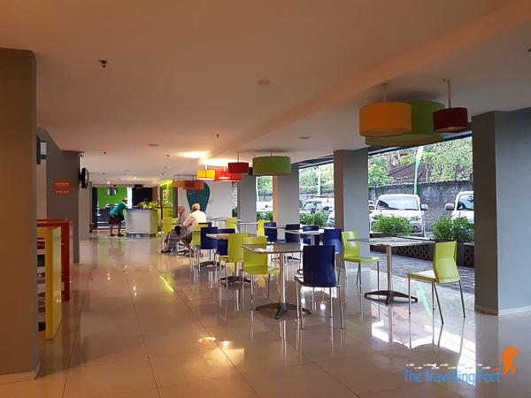 lobby of pop hotel kuta bali