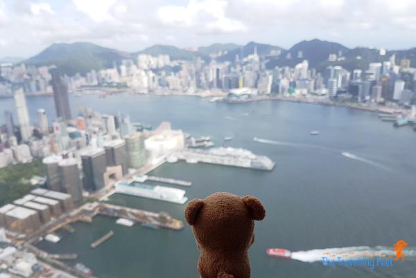 hongkong from sky100 observation deck