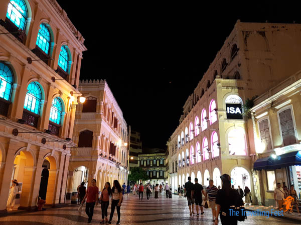 Senado Square at Night