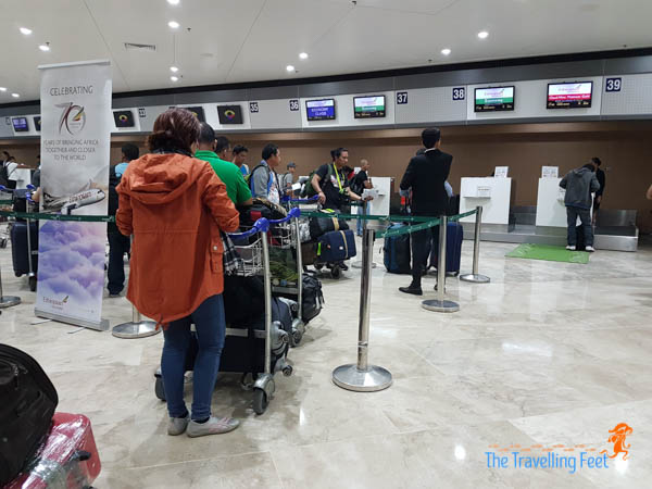 checkin line for ethiopian airlines