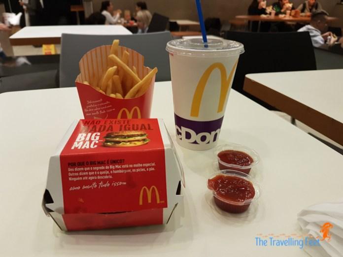 1st meal in Brazil