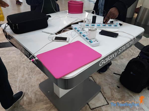 charging stations at Addis Ababa Bole International Airport