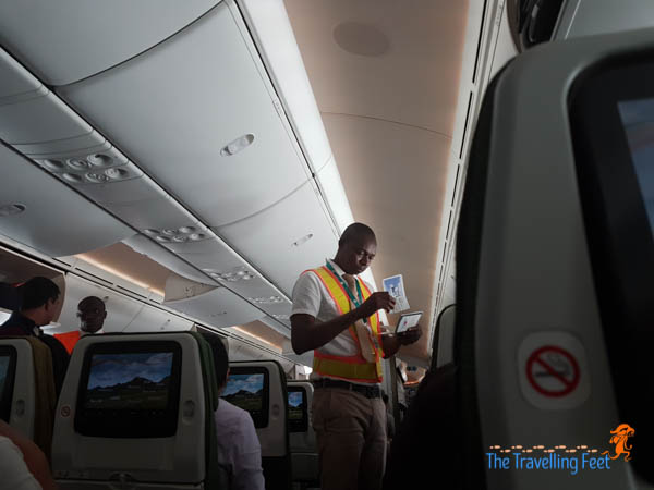 checking of boarding pass at Lome