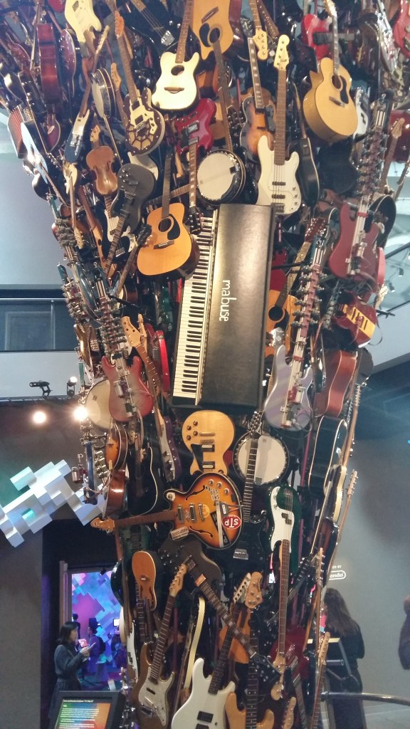 Guitars installation in the museum of pop culture