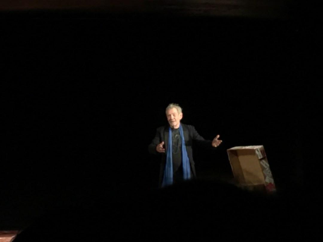 Sir Ian McKellan sul palco