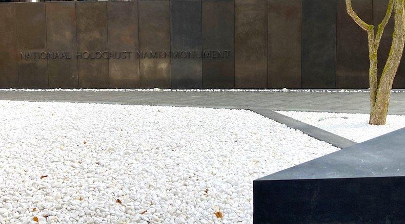 Il Monumento dei Nomi dell'Olocausto ad Amsterdam