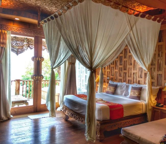 Wooden clad bedroom in Santhiya, Koh Yao Yai