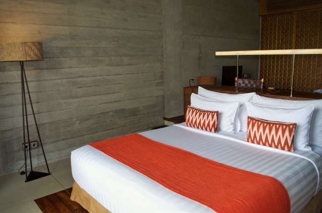 Bedroom in the forest suite at Bisma Eight, Ubud, Bali, Indonesia