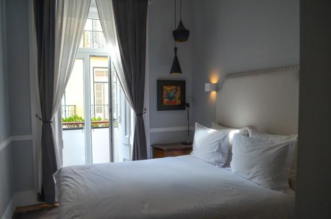 Bedroom at Casa do Barao, Lisbon, Portugal