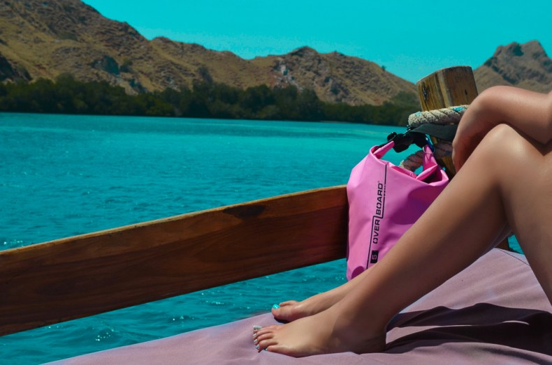 Travel presents - Overboard pink 5 litre dry bag