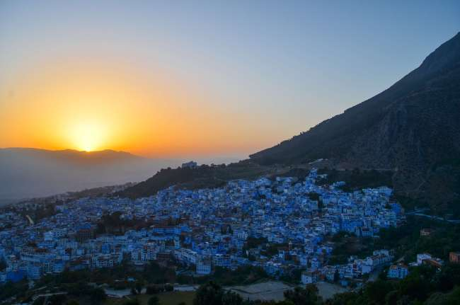 Sunset over Chefchaouen, Morocco