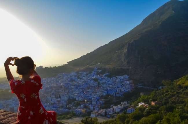 Sunset at Chefchaouen, Morocco