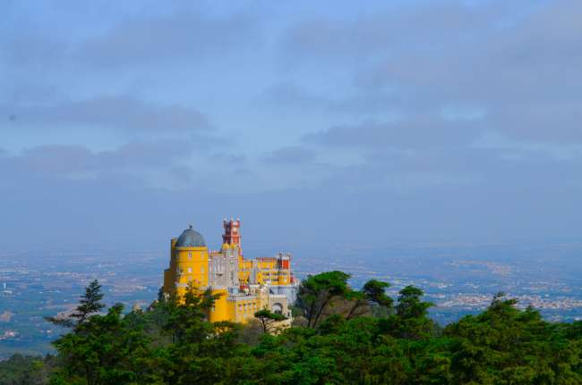 Pena Palace from High cross viewpoint, Sintra, Portugal