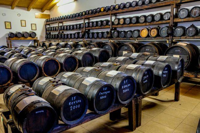 Exploring Italy's famous food region - Modena balsamic vinegar barrels