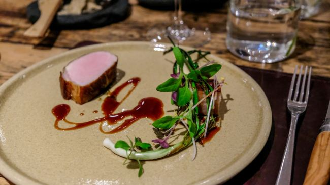 Dining at the Forest Side, Grasmere, Cumbria - Pork and Damson