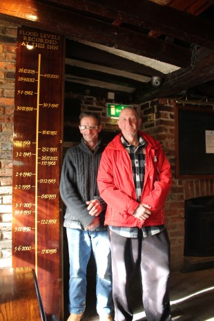 Locals show off the flood record