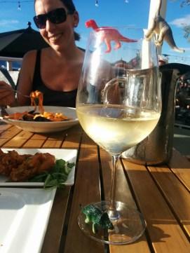 Pasta, wine and the Tiny Dinos