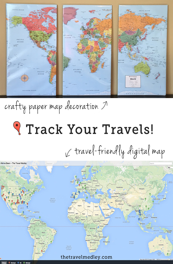 Track Your Travels With A Paper And/Or Digital Travel Map | The Travel Medley