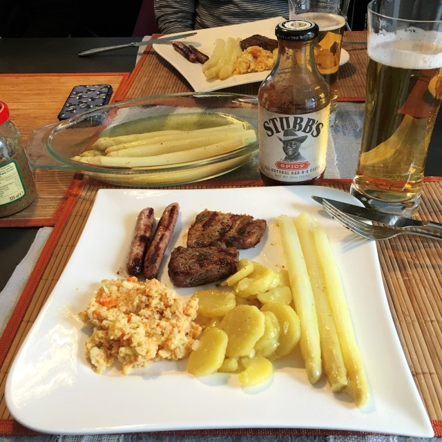 BBQ, coleslaw, white asparagus | Schwabach With A Local | Germany | The Travel Medley
