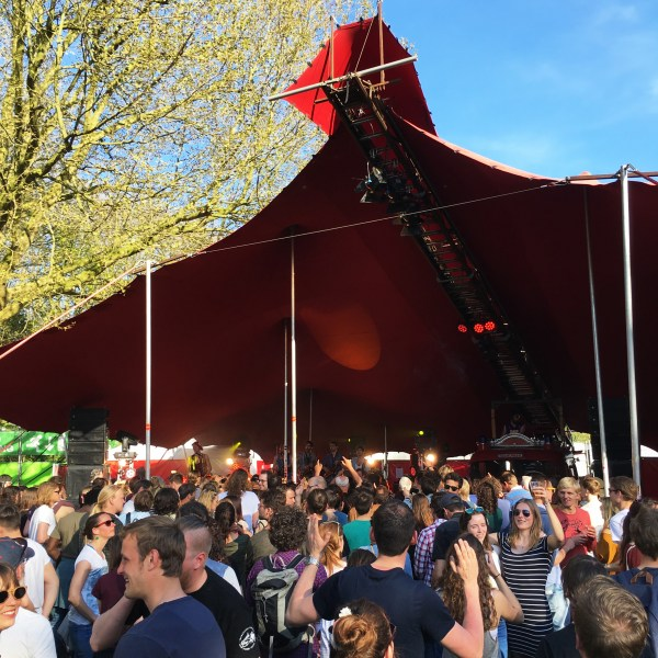 The crowd at a smaller stage | Bevrijdingsfestival | Utrecht | The Travel Medley