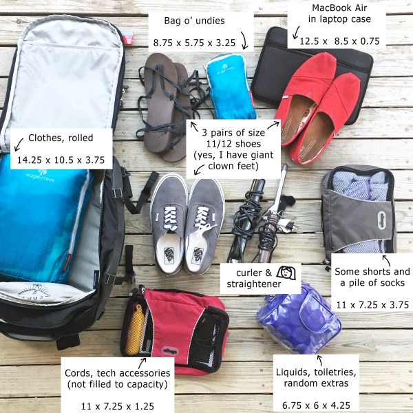 What Fits In a 30L Bag? | Travel Gear | The Travel Medley