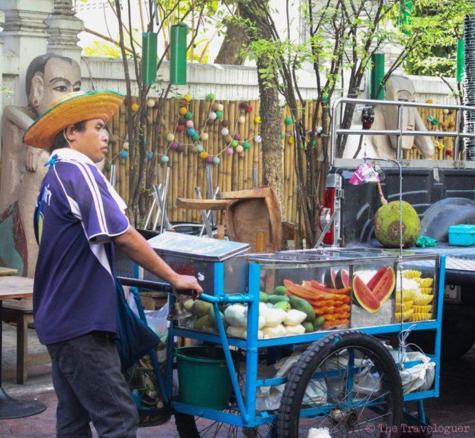 street food of Bangkok fruit