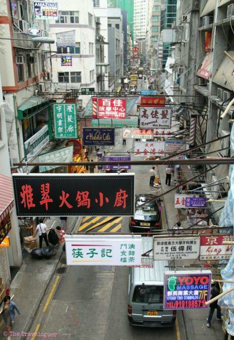 hongkong street scene budget sightseeing